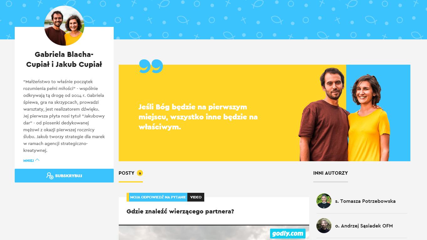 Gabriela Blacha-Cupiał i Jakub Cupiał - Godly.com